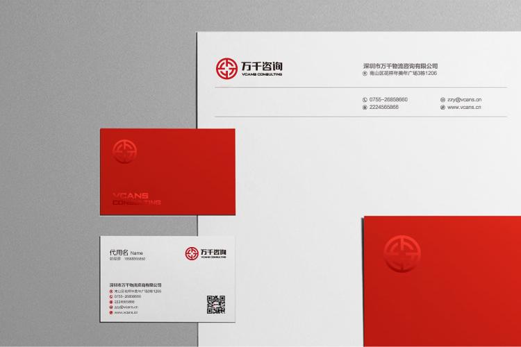 万千咨询品牌形象设计,标志设计,LOGO设计和商标设计
