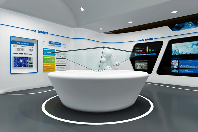 新疆佳音医院干细胞库品牌形象展厅设计