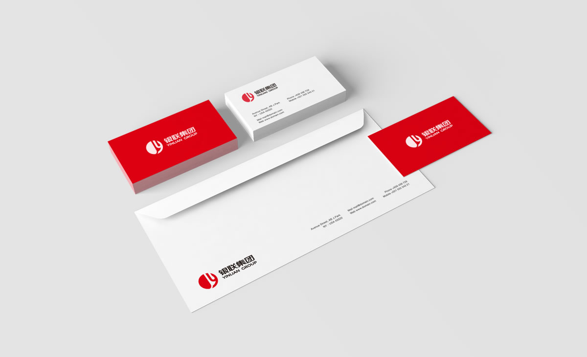 银联集团品牌形象设计,银联集团标志设计